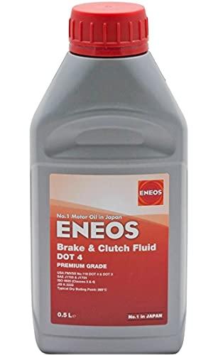 Eneos Brake & Clutch Fluid DOT 4 500 ml - Synthetische Bremsflüssigkeit - Hohe Temperaturbeständigkeit 310°C - Neutral für Dichtungen - Ausgezeichnete Formel - Korrosionsbeständigkeit