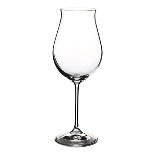 Copa De Vino Tinto De Cristal Sin Plomo Juego De Copas Hecho A Mano Copa De Vino Multifuncional para Fiestas, Bodas Y Eventos (340 Ml) (Color : Clear, Size : 7.5 * 21.5cm)
