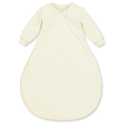 Sterntaler Leichter Schlafsack für Babys, Mit Ärmeln, Reißverschluss, Größe: 62, Crème