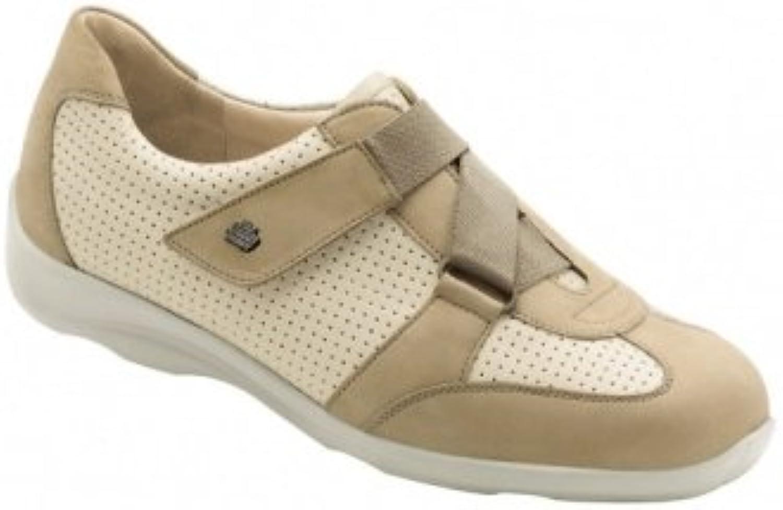 Finn Comfort Damen Schuhe Halbschuh mit Klettverschluss Jaipur Gobi Fresh 2420900252