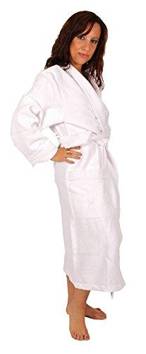 Badjas voor dames, badstof, wit