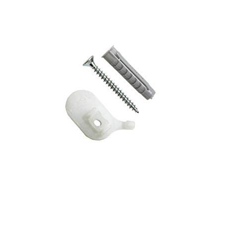 Gardinia Deckenträger für Aluminium-Vorhangschiene 1-läufig weiß, 2er Pack, Zutreffend, 2