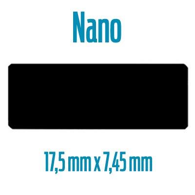 SNEG Drohnen-Plakette aus hochwertigem wetterbeständigem Material inkl. Gravur & Selbstklebefolie | DuraBlack | UV-resistent | Feuer-resistent | Drohnenkennzeichen | (Nano 17,5mm x 7,45mm)