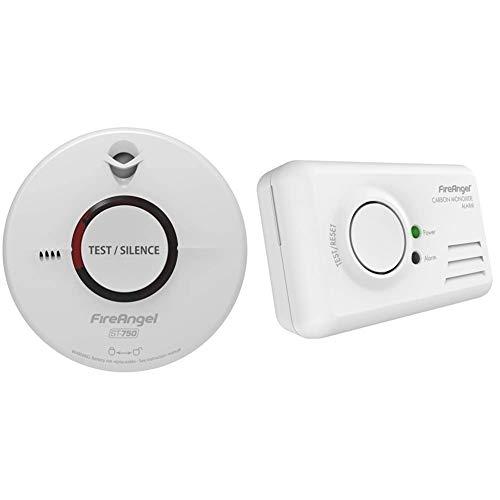 FireAngel ST-750T Thermoptek Smoke Alarm & CO-9B Carbon Monoxide, White