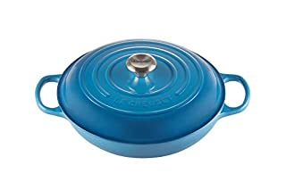 Le Creuset Signature Enamelled Cast Iron Shallow Casserole Dish With Lid, 30 cm, 3.2 Litres, Marseille Blue, 211803020 (B00YUZ1KBY) | Amazon price tracker / tracking, Amazon price history charts, Amazon price watches, Amazon price drop alerts