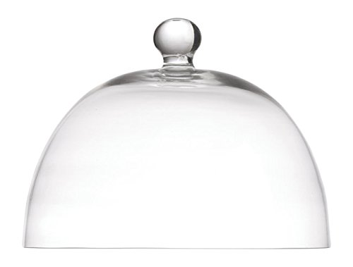 la Porcellana Arezzo dôme en Verre D26 cm, Blanc