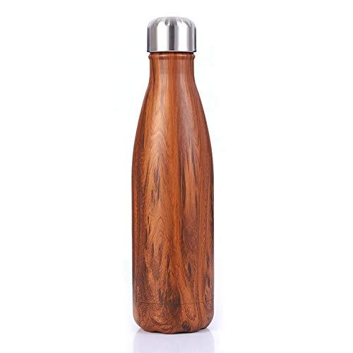 XGQ Térmica Copa Frasco de vacío de Calor del Agua de Botella portátil de Acero Inoxidable Deportes Caldera, Capacidad: 500 ml (Blanco) (Color : Chocolate)
