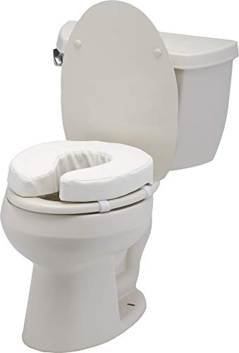 """NOVA Toilet Seat Cushion, 2"""" Padded Toilet Seat Attachment Cover, For Standard and Elongated Toilet Seats"""