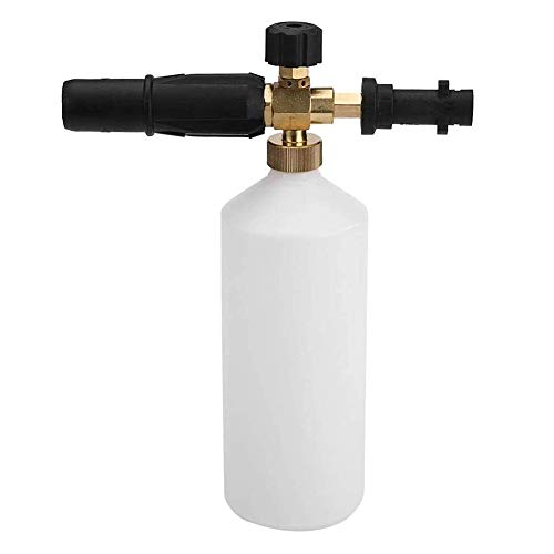 Lanza de espuma de nieve ajustable 1L dispensador de jabón de cañón de espuma para Karcher K Series K2 K3 K4 K5 K6 K7 Lavadora a presión
