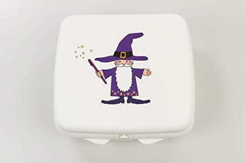 TUPPERWARE To Go Sandwich-Box weiß Zauberer Pausenbox Brotbox Schule