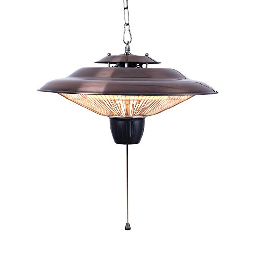 DONYER POWER 1500W Outdoor/Indoor Electric Patio Heater, Ceiling Mounted, Courtyard style ,Iron (HCH502, Coppering)