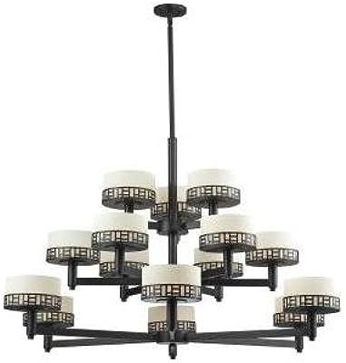 Amazon.com: Z-Lite 328 – 15 Elea 15 luz 3 niveles con ópalo ...
