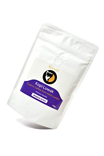 Kopi Luwak Premium (Kaffee von freilebenden Tieren) - Gemahlener Kaffee - Die seltensten Kaffee der Welt -