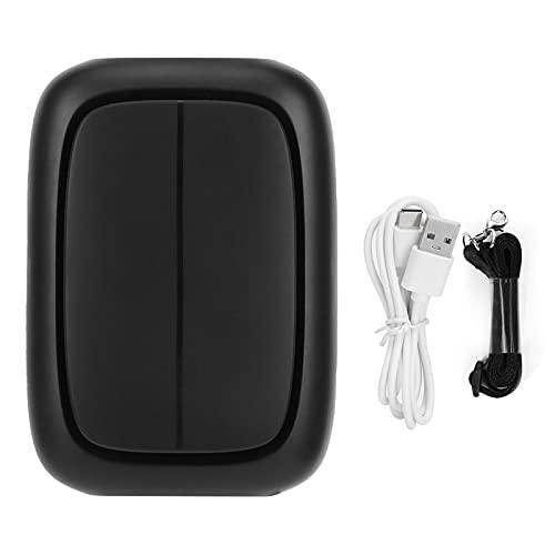 Ventilador de Cintura Colgante Ventilador portátil Ajustable de 3 Engranajes Ventilador de Cuello Recargable USB para la Oficina en casa Estudiantes Deportes al Aire Libre(Negro)