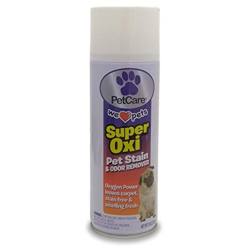 Super Oxi Pet Stain and Odor Remover Spray - 10 oz. Best Dog Urine Cleaner/Cat Pee Eliminator, Works for Carpet Cleaning, Couch/Upholstery. This Product Uses The Strength of Foaming Oxygen to Clean.