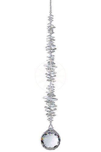 Christoph Palme Leuchten Boule en Cristal 40 mm dans Une Pochette Cadeau 30/% Cristal de Plomb Boule de Cristal Arc-en-Ciel /à Suspendre pour Feng Shui et Waldorf en Cristal Poli