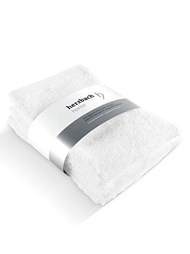herzbach home 30 x 50 cm Handtuch Gästetuch 3er-Set Premium Qualität aus ägyptischer Baumwolle