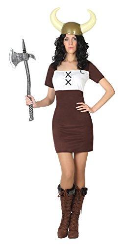Atosa Disfraz Mujer vikinga, M-L 7417