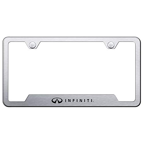 Infiniti Brushed Steel Auto License Plate Frame
