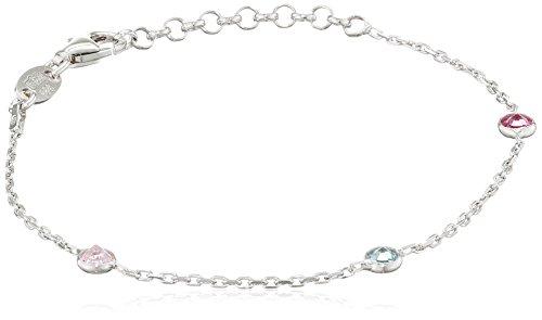 SCOUT Kinder-Armband 925 Silber rhodiniert Zirkonia mehrfarbig 17 cm - 260233100