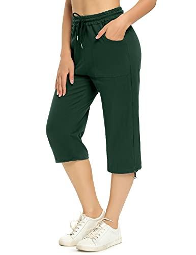 Irevial Pantaloni Sportivi Donna in Cotone Pantaloni Jogger con Coulisse Pantaloni Piede del Fascio Casual Donne Pantaloni Sportivi Morbidi Leggeri