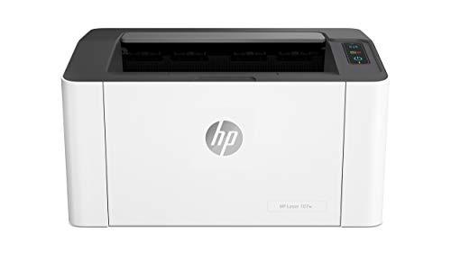 HP LaserJet 107w 4ZB78A, Stampante Laser Bianco e Nero, Funzionalità di Sicurezza Dinamica, Formato A4, Wi-Fi e Wi-Fi Direct, USB, Fronte e Retro Manuale, ReCP 1200 x 1200 dpi, fino a 20 ppm, Bianca