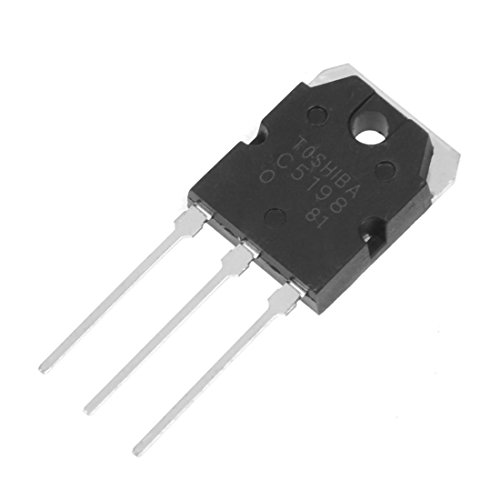 SODIAL(R) 2 x A1941 + C5198 10A 200V Hochfrequenzleistungsverstaerker Siliziumtransistor