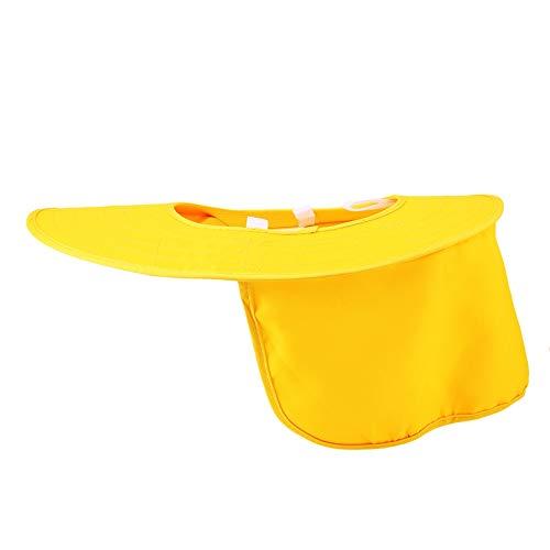 Casco de Seguridad, Franja Reflectante Sombrilla Sombrero Duro Cara Cuello Escudo Cubierta Protector Solar Casco Sombrero Diseño de Tira Reflectante Mejora la Seguridad