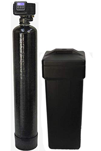 Fleck 5600sxt On Demand Water Softener with Resin Made in USA/Canada, 40,000 Grains, Black