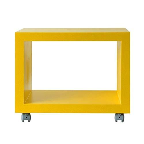 Wohngeräte Kleiner Couchtisch Wohnzimmer Sofa Seitenschranktisch Schlafzimmer Schließfach Kinderzimmer Quadratisches Nachttisch Snack Tablet Licht Beistelltisch Gelb 54,3 x 30 x 38,6 cm (Farbe: Gel