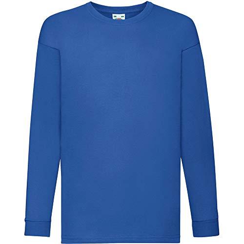 Fruit of the Loom - Camiseta infantil de manga larga Azul azul cobalto 3-4 Años