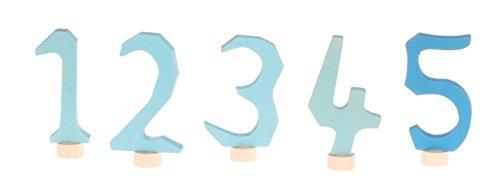 Grimms Spiel Und Holz Design Grimm's Lot de fiches numérotées 1-5 en bleu