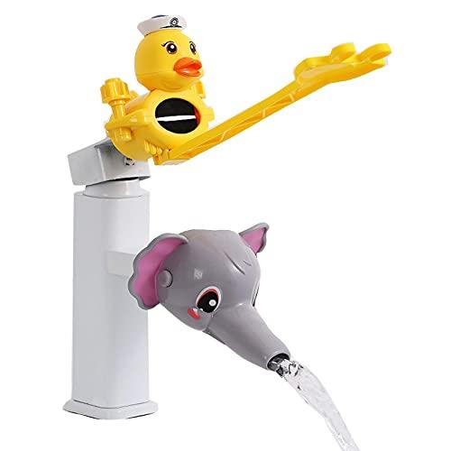 Bagalqio Extensor De Grifo Safe Fun Baño Solución Para Lavarse Las Manos Extensor De Manija De Fregadero Extensor De Grifo De Dibujos Animados Mango De Fregadero Para Bebés Niños Pequeños vividly