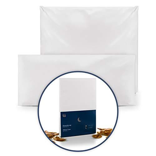 Blumtal Kopfkissen Milbenbezug für Allergiker - Kissenbezug Milbenschutz Encasing, waschbar, 40 x 80 cm, 1er Set