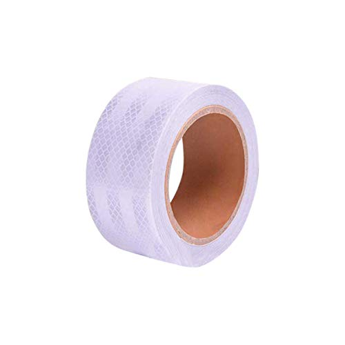 """Abrams Solas Reflective Tape Marine Grade Safety Warning Tape Silver High Intensity Super Bright White Waterproof Self-Adhesive Tape for Boats, Rafts, Life Vests & Jackets - 2"""" x 50' -  Solas 2 x 50"""