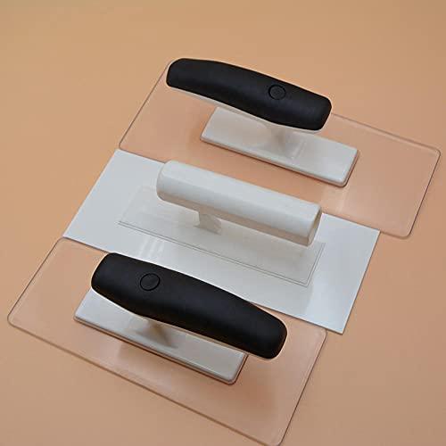 diferentes tipos de llana de enyesado de plástico enyesado llana de desnatado para pisos de baldosas acabado de mortero herramienta de mano-L + M + S_1PC