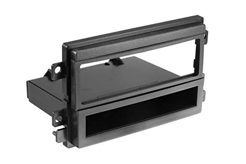 Scosche FD1424B Compatible with Select 2004-09 Ford / Lincoln / Mercury DIN w/Molded Pocket Dash Kit Black