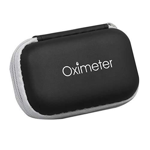 Bolsa de Almacenamiento de Oxímetro Caja de Bolsa de Almacenamiento con Cremallera Compacta para Oxímetro de Pulso de Dedo Bolsa de Funda Protectora de Oxímetro de Viaje de Eva Dura