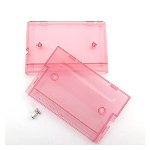 WULE 10pcs Juego de Cartucho de Cartucho de Cartucho con Tornillos Ajuste para Sega Genesis Mega Drive Fit para MD (Color : Transparent Pink)