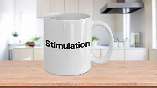 11 oz Koffie Mok, Thee Beker, Stimulant Mok Wit Koffie Beker Grappig Cadeau voor Cafeïne Verslaving Goede Morgen
