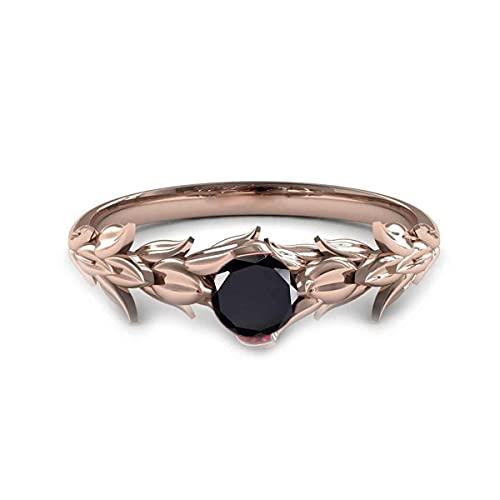 55Carat Chapado en oro rosa redonda Black Ónix negro natural.