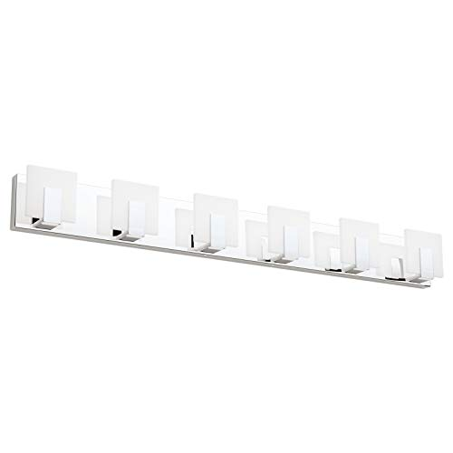 Aipsun 6 Lights Dimmable Modern LED Bathroom Vanity Light Acrylic Stainless Steel Chrome Up and Down...