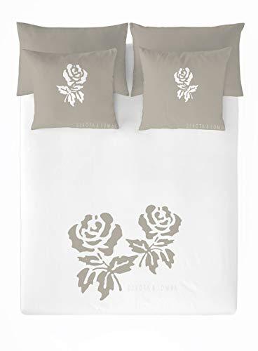DEVOTA & LOMBA Funda nórdica Roses Lino Cama 180