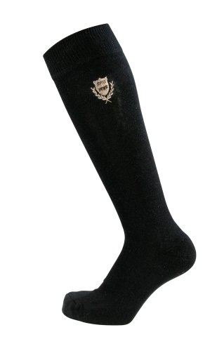 PFIFF - Calcetines de equitación, diseño a Cuadros Negro Negro Talla:40-42