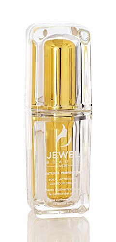 Crème Contour des yeux d'action Total Jewel Beauty Naturel Perfection (Anti-âge, anticernes, anti-cernes, Hydratante et Nourrissante),15 ML 0.5 FL OZ