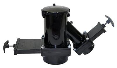 "Valterra T38 Fixed Wye Double Valve Assembly with 3"" Hub x 1-1/2"" Rotating Hub x 3"" Bay with Cap,Black"