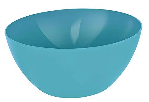 Rotho Caruba große Schüssel 8l, Kunststoff (PP) BPA-frei, blau, 8l (34,0 x 34,0 x 15,0 cm)