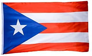 DANF Puerto Rico Flag 3x5 Foot Polyester Puerto Rican National Flags Polyester with Brass Grommets 3 X 5 Ft