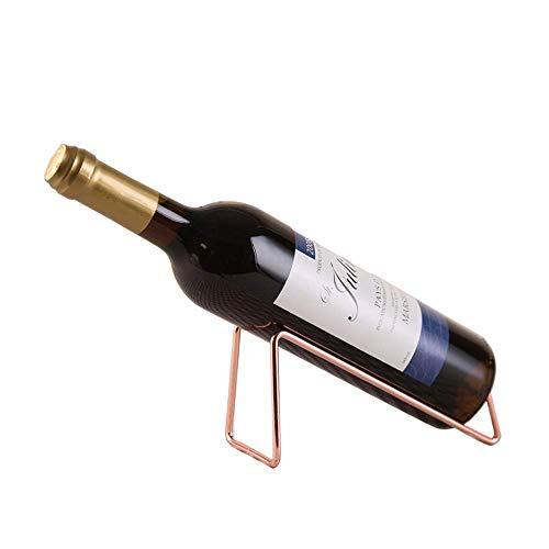 Pkfinrd Estante de vino de hierro forjado para el hogar, restaurante, ventana de almacenamiento de vino (color: cobre)
