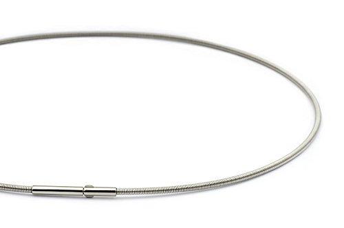 Heideman Halskette Damen Linea 1 aus Edelstahl Silber farbend matt Kette für Frauen mit Doppeclip Verschluss Collier für Charms und Schmuck Anhänger Länge 45cm